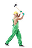 Worker with axe Stock Photography