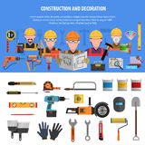 Worker Banner Set Royalty Free Stock Image