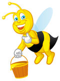 Worker bee. Isolated illustration of Cartoon worker bee Royalty Free Stock Photo