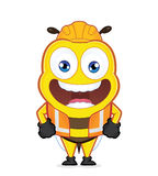 Worker bee. Clipart picture of a worker bee cartoon character Royalty Free Stock Image