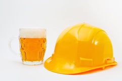 Worker is on a beer brake Royalty Free Stock Images
