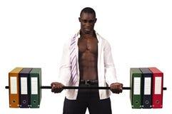 Worker biceps Stock Image