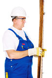 Worker with boards Stock Photography