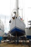 Worker in boatyard Royalty Free Stock Photo