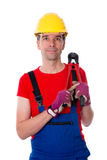 Worker with bolt cropper on his shoulder Royalty Free Stock Photo