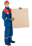Worker with box Stock Image