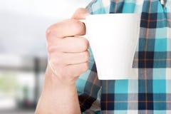 Worker on a break drink coffee Stock Image