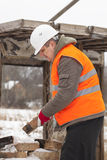 Worker with brick Royalty Free Stock Images