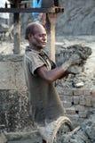 Worker in a brickyard Stock Image