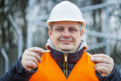 Worker with broken cigarette Stock Photography