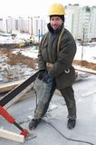 Worker builder and concrete Stock Photos