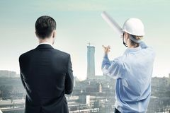 Worker building Royalty Free Stock Photos