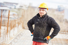 Worker at building site Royalty Free Stock Photo