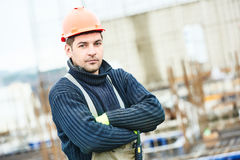 Worker at building site Royalty Free Stock Photos