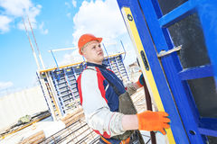 Worker at building site Stock Photos