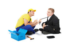 Worker and businessman Stock Photos