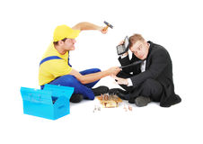 Worker and businessman Stock Image