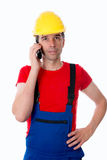 Worker is calling Royalty Free Stock Image
