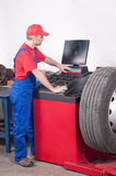 Worker in car service Stock Image