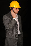 Worker with cellphone Royalty Free Stock Photos