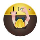 Worker. Character design, engineer vector, factory worker, vector cartoon vector illustration