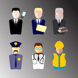 Worker Character Set Royalty Free Stock Photography