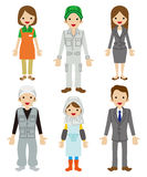Worker Character set Stock Photo