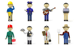 Worker characters Stock Image