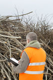 Worker checks branches Stock Photography