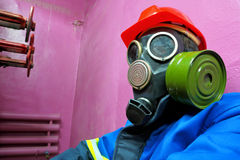 Worker of chemical plant Stock Photo