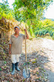 Worker in a coffee plantation farm, Colombia Stock Photo