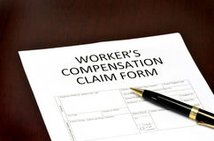 Worker Compensation Form Stock Photos