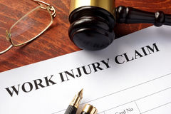 Worker compensation. Stock Photos