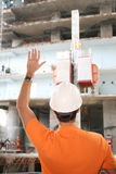 Worker on construction Royalty Free Stock Image