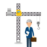 Worker construction avatar icon Royalty Free Stock Image
