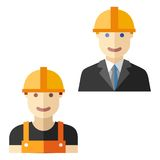 Worker construction flat avatar set Stock Images