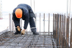 Worker at construction site Royalty Free Stock Images