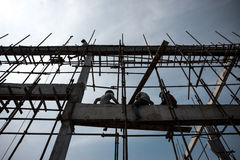 Worker at Construction Site. Asian workers at the Construction Site Royalty Free Stock Images