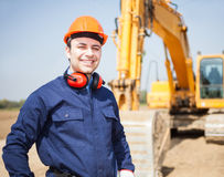 Worker in a construction site Stock Photos