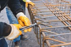 Worker At Construction site Stock Images