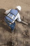 A worker in a construction site Royalty Free Stock Photo