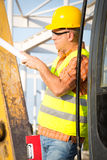 Worker in a construction site Stock Images