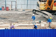 Worker at construction sites Stock Image