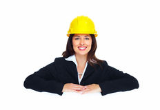 Worker contractor woman. Stock Photography