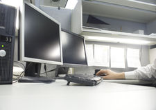 Worker in cubicle Stock Photography