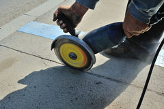 Concrete cutting on site Stock Photography
