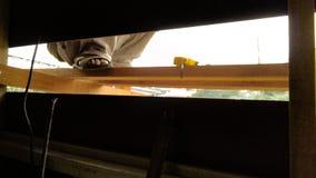 Worker. Danger safe building builder job home rebuild insure insuerun workers safty safety Royalty Free Stock Photos