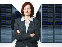 Worker in datacenter Stock Photography
