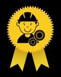 Worker design. Over black background vector illustration Royalty Free Stock Photos