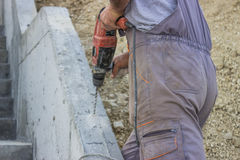 Worker Drilling 3 Stock Image